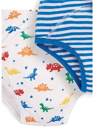 JoJo Maman Bebe Set 3 perechi de chiloti, baieti, cu modele dungi si dinozauri Fete