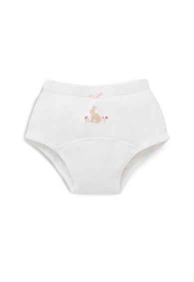 JoJo Maman Bebe Set 3 perechi de chiloti, fete, cu dungi si floricele, Multicolor Fete