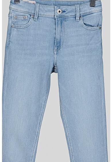 Pepe Jeans London Blugi skinny cu aspect decolorat Pixlette Fete