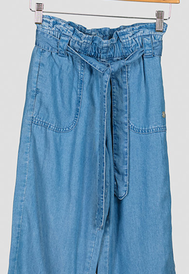 Pepe Jeans London Pantaloni chambray cu croiala ampla Rosalia Fete