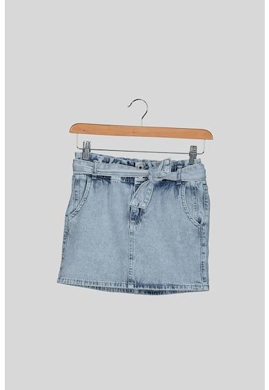 Pepe Jeans London Fusta mini din denim cu brau Carol Fete