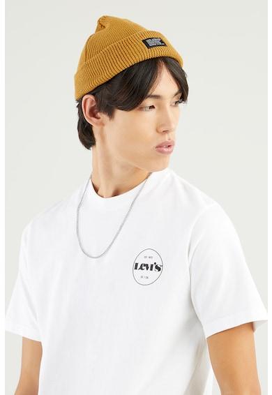 Levi's Tricou de bumbac cu imprimeu logo si decolteu la baza gatului Barbati