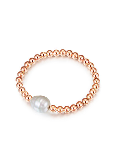 Clara Copenhagen Bratara placata cu aur, cu margele si perle organice Femei