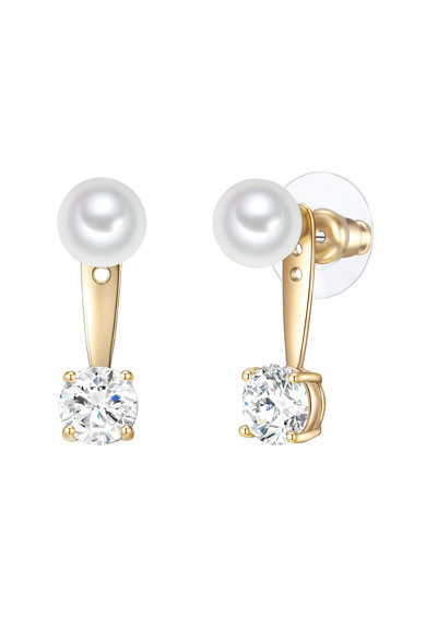 Clara Copenhagen Cercei drop decorati cu cristale si perle organice Femei