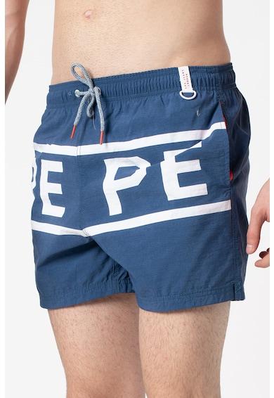 Pepe Jeans London Pantaloni scurti de baie cu imprimeu logo contrastant Soul Barbati