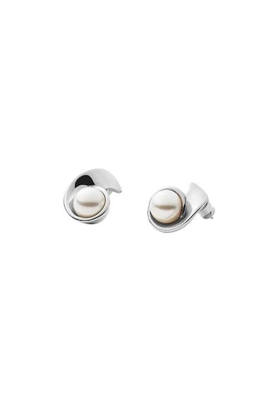 Skagen Cercei din argint veritabil decorati cu perle sintetice Agnethe Femei