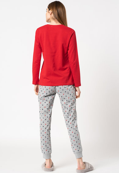 Yamamay Pijama lunga cu model de Craciun Femei