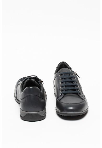 Geox Pantofi sport de piele ecologica cu garnituri de piele Timothy Barbati