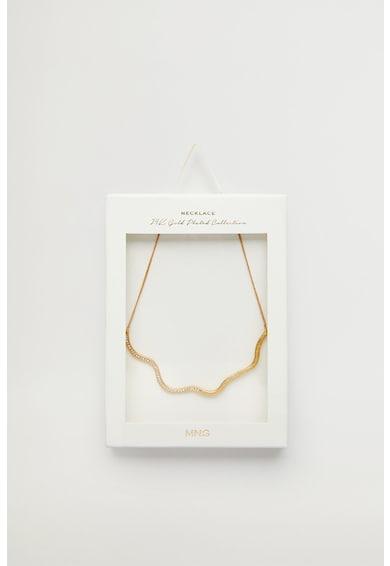 Mango Colier placat cu aur de 24K si decorat cristale Anna Femei