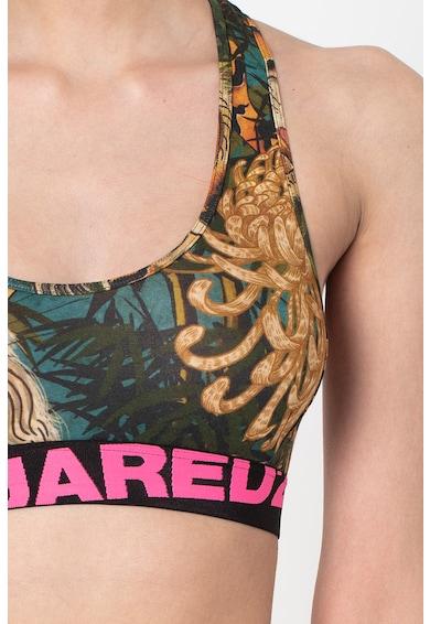 Dsquared2 Bustiera din amestec de modal, cu imprimeu tropical Femei