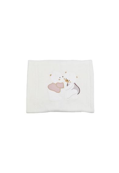 Pierre Cardin Baby Paturica tricotata cu ursuleti Fete