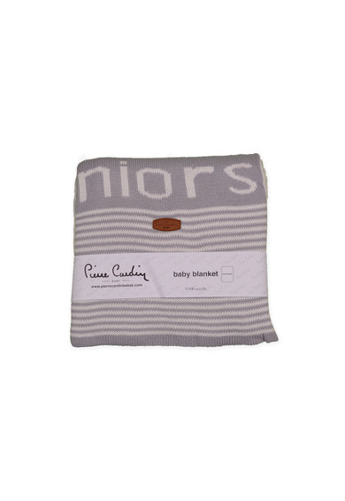 Pierre Cardin Baby Patura tricotata cu text si dungi Fete