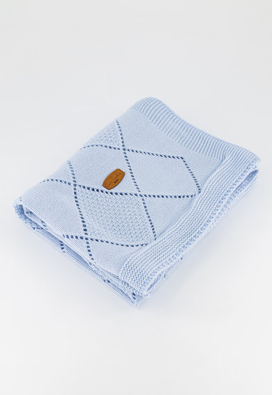 Pierre Cardin Baby Patura tricotata cu model pointelle Fete