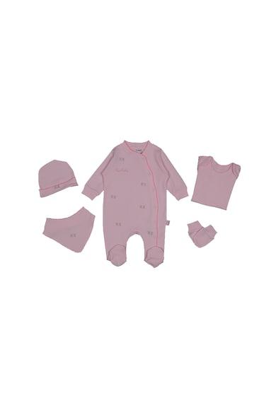 Pierre Cardin Baby Set de imbracaminte cu trandafiri brodati - 5 piese Fete