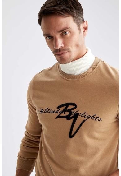 DeFacto Bluza din amestec de bumbac cu imprimeu Barbati