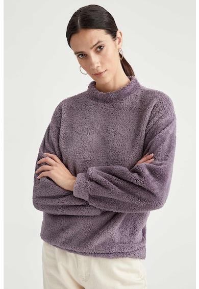 DeFacto Bluza din material teddy cu guler inalt Femei