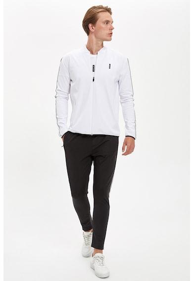 DeFacto Bluza sport cu fermoar si benzi laterale contrastante Barbati