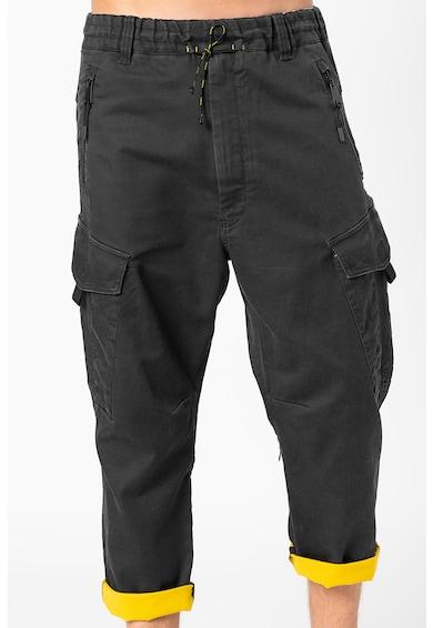 Diesel Pantaloni cargo din amestec de lyocell, cu snur in talie Phanto Barbati