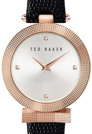 Ted Baker Ceas cu o curea de piele Bow, 36 MM Femei