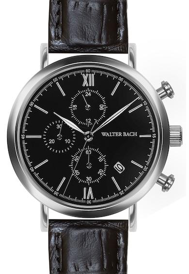 Walter Bach Ceas cronograf cu o curea de piele Barbati