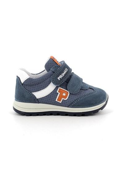 Primigi Pantofi sport de piele intoarsa ecologica cu garnituri de piele intoarsa Baieti