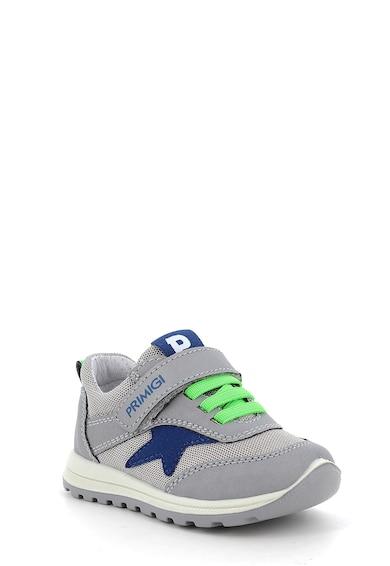 Primigi Pantofi sport de plasa cu detalii de piele intoarsa ecologica Baieti