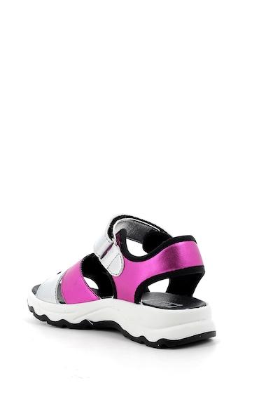 Primigi Sandale de piele ecologica cu garnituri cu aspect metalizat Fete
