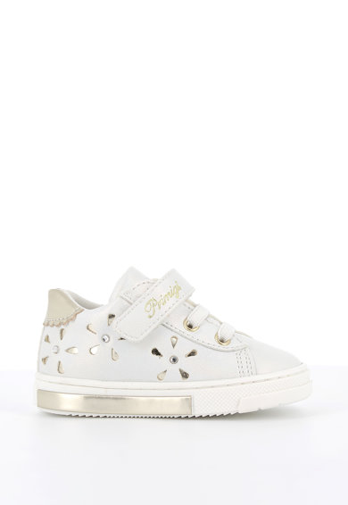 Primigi Pantofi sport de piele ecologica cu accente metalizate Fete