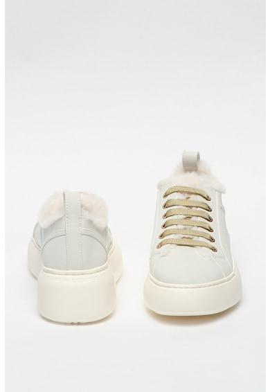 ARMANI EXCHANGE Pantofi sport de piele ecologica cu platforma Femei