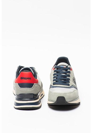 Blauer Pantofi sport cu insertii de piele intoarsa si talpa wedge Hilo Barbati