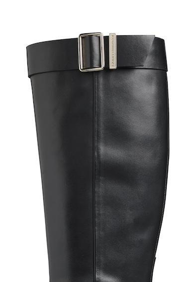 Tommy Hilfiger Cizme lungi pana la genunchi de piele cu banda decorativa cu catarama Femei