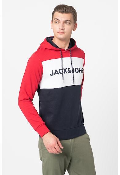 Jack&Jones Hanorac cu model colorblock si logo Barbati