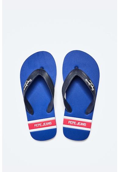 Pepe Jeans London Papuci flip-flop cu talpa cu model in dungi Baieti