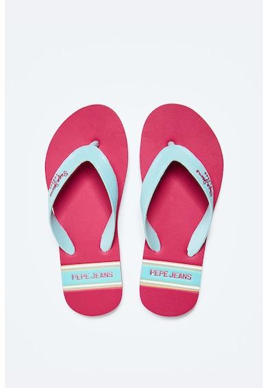 Pepe Jeans London Papuci flip-flop cu logo Fete