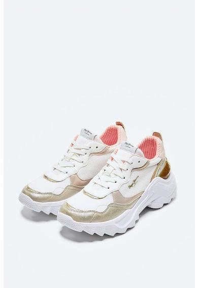 Pepe Jeans London Pantofi sport din plasa cu garnituri din piele ecologica Femei