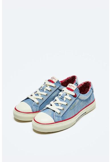 Pepe Jeans London Pantofi sport cu aspect de denim si aplicatie cap-toe de protectie Femei