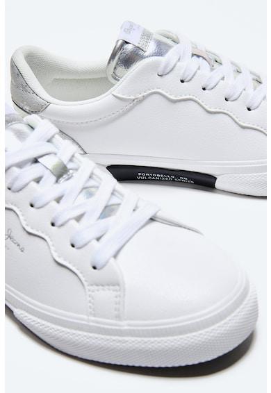 Pepe Jeans London Pantofi sport de piele ecologica cu garnituri metalizate Femei