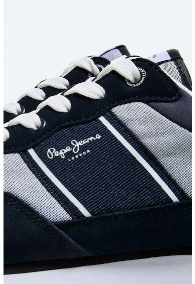 Pepe Jeans London Pantofi sport din material textil si piele intoarsa Barbati