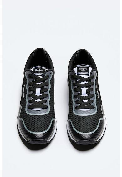 Pepe Jeans London Pantofi sport din plasa tricotata si material sintetic Barbati