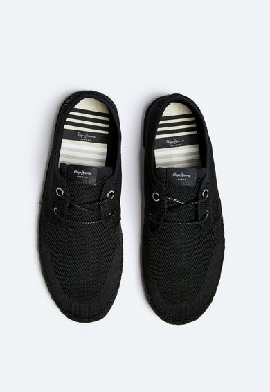 Pepe Jeans London Espadrile din plasa tricotata Barbati