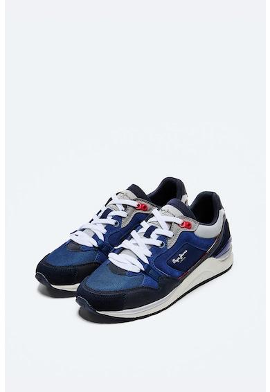 Pepe Jeans London Pantofi sport de piele ecologica cu insertii de plasa Barbati