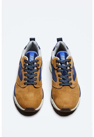 Pepe Jeans London Pantofi sport de piele intoarsa si material textil Barbati