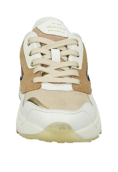 Gant Pantofi sport cu garnituri din piele intoarsa si piele Femei