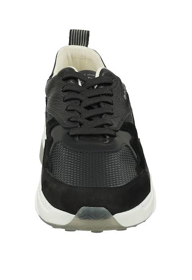Gant Pantofi sport de piele intoarsa si piele Barbati