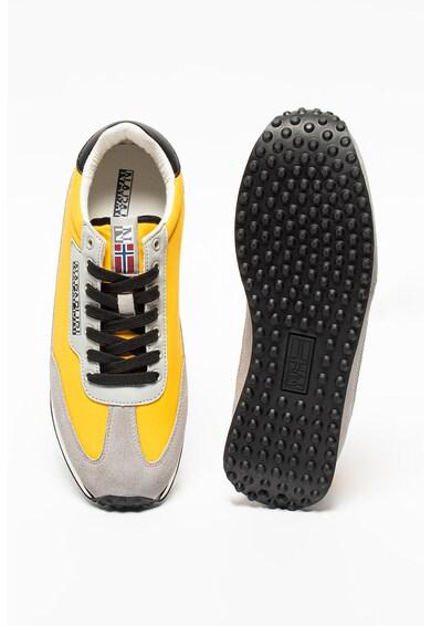 Napapijri Pantofi sport cu insertii de piele intoarsa Vantage Barbati