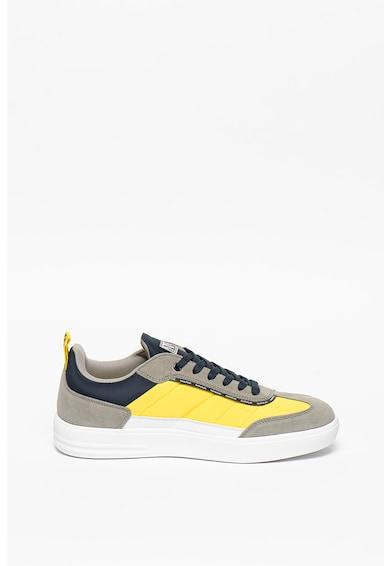Napapijri Pantofi sport cu model colorblock si garnituri de piele intoarsa Bark Barbati