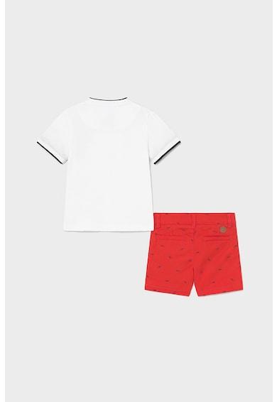 Mayoral Set de tricou si pantaloni scurti chino Baieti
