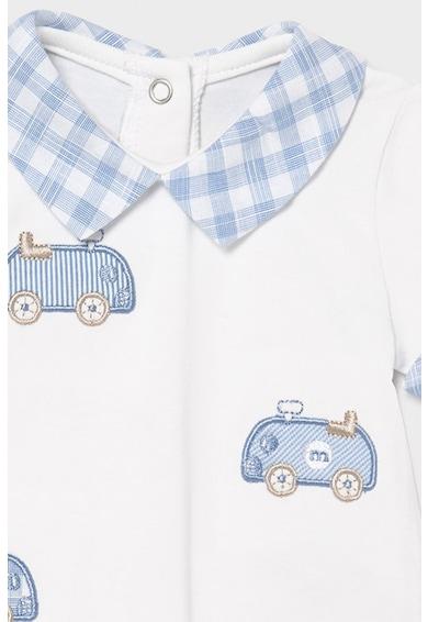 Mayoral Set 4 piese cu tricouri cu guler si pantaloni scurti, baieti, Alb/Albastru azur Baieti