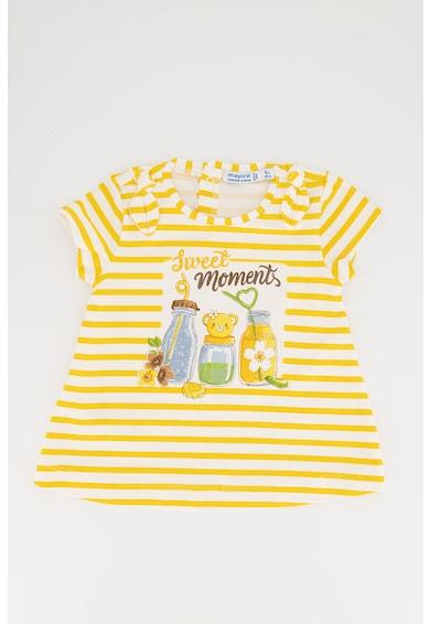 Mayoral Set de tricou si colanti cu imprimeu Fete