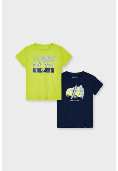 Mayoral Set de tricouri cu imprimeu grafic - 2 piese Baieti
